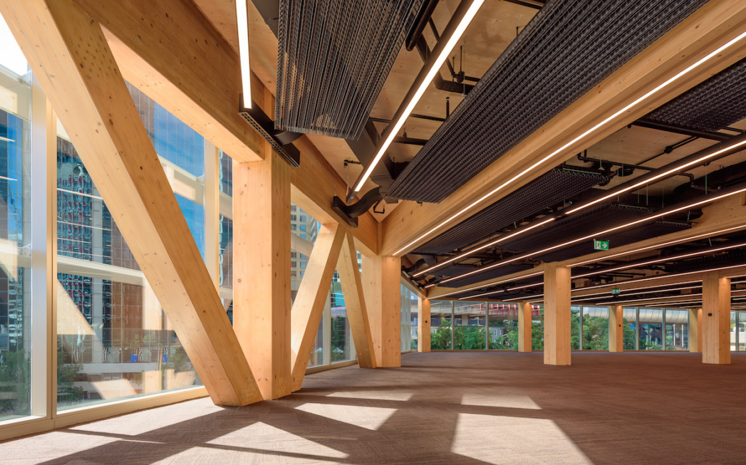 Sydney's wooden office building